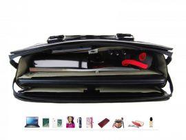PUNCE LC-01 Stříbrná dámská kabelka pro notebook do 15.6 palce E-batoh