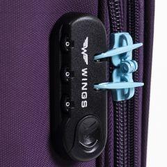 Sada 3 textilních kufrů WINGS 2861 PURPLE L/M/S E-batoh