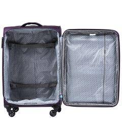 Cestovní látkový kufr WINGS 2861 BLUE střední M E-batoh