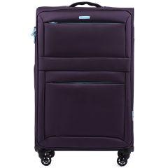 Cestovní látkový kufr WINGS 2861 PURPLE velký L