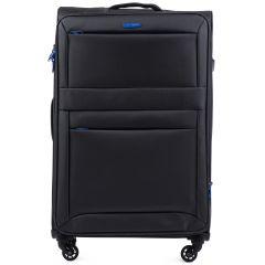 Cestovní látkový kufr WINGS 2861 DARK GREY velký L