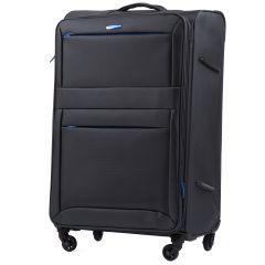 Cestovní látkový kufr WINGS 2861 DARK GREY velký L E-batoh