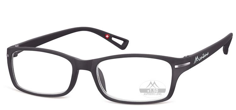MONTANA EYEWEAR Dioptrické brýle MR76 BLACK+3,50