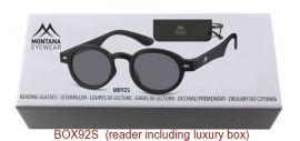 Dioptrické brýle BOX92S BLACK+1,50 ZATMAVENÉ ČOČKY MONTANA EYEWEAR E-batoh