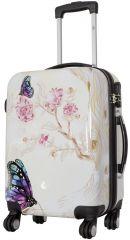 Cestovní kufr Motýl na kytce malý S