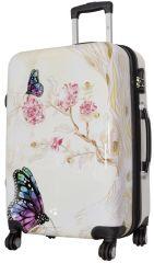 Cestovní kufr Motýl na kytce střední M