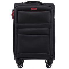 Cestovní látkový kufr WINGS 2861 BLACK malý S