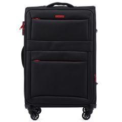 Cestovní látkový kufr WINGS 2861 BLACK střední M