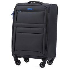 Cestovní látkový kufr WINGS 2861 DARK GREY malý S E-batoh