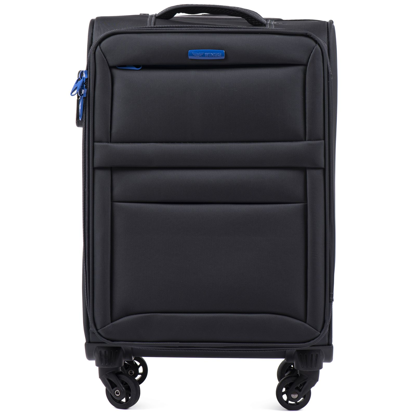 Cestovní látkový kufr WINGS 2861 DARK GREY malý S