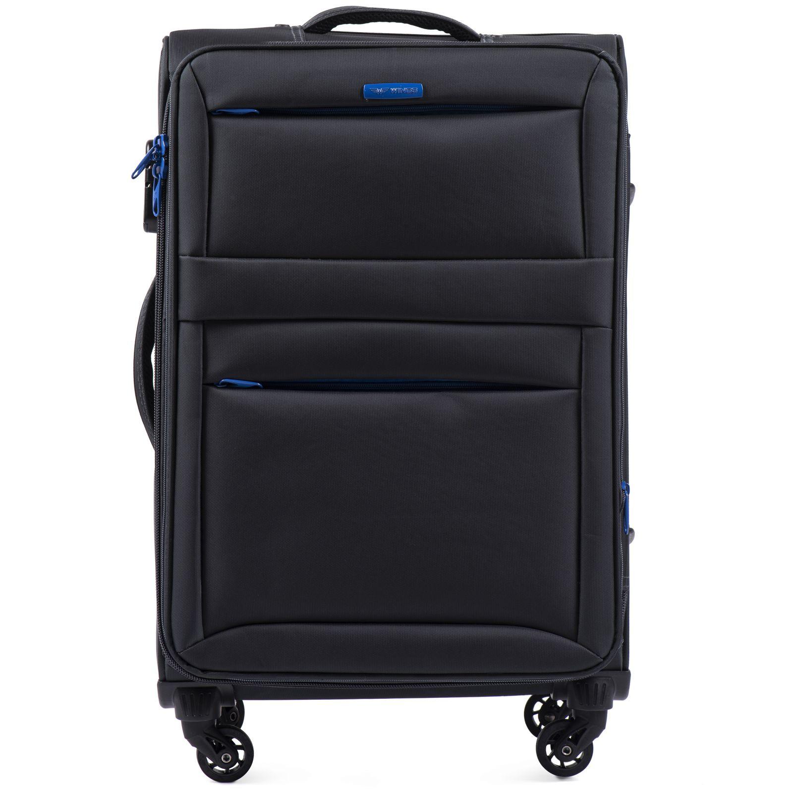 Cestovní látkový kufr WINGS 2861 DARK GREY střední M