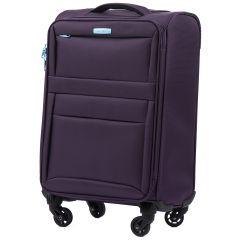 Cestovní látkový kufr WINGS 2861 PURPLE malý S E-batoh