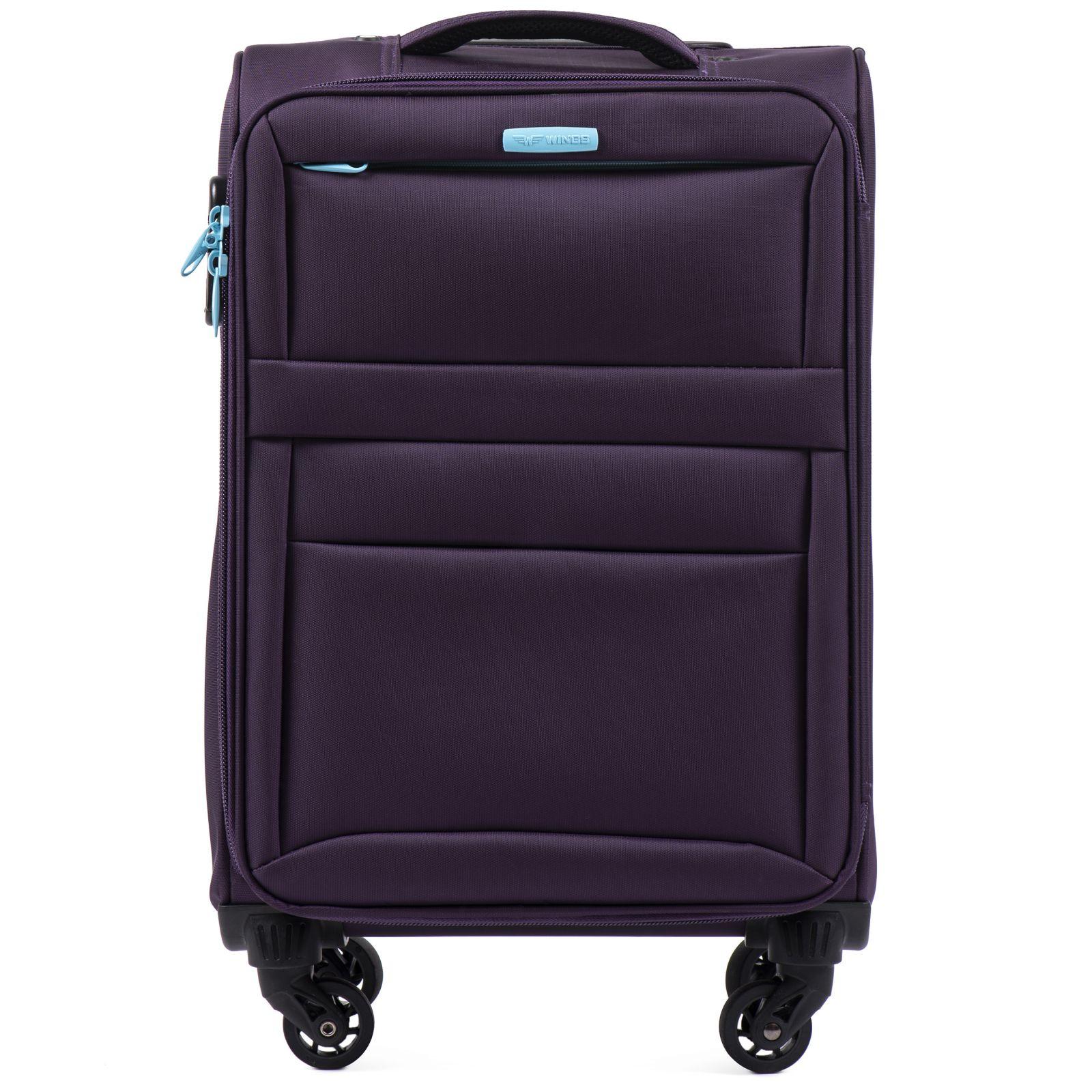 Cestovní látkový kufr WINGS 2861 PURPLE malý S