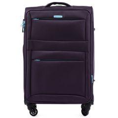Cestovní látkový kufr WINGS 2861 PURPLE střední M