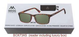 Dioptrické brýle BOX73AS BLACK+3,50 ZATMAVENÉ ČOČKY MONTANA EYEWEAR E-batoh
