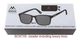 Dioptrické brýle BOX73S BLACK+1,00 ZATMAVENÉ ČOČKY MONTANA EYEWEAR E-batoh