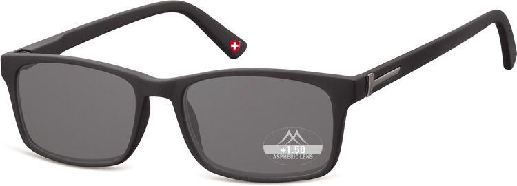 Dioptrické brýle BOX73S BLACK+1,00 ZATMAVENÉ ČOČKY
