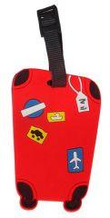 Jmenovka na kufr Koffer červená