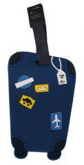 Jmenovka na kufr Koffer modrá