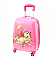 Dětský skořepinový kufřík-kočička