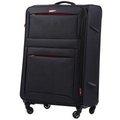 Sada 3 textilních kufrů WINGS 2861 BLACK L/M/S E-batoh