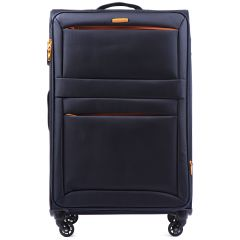 Sada 3 textilních kufrů WINGS 2861 BLUE L/M/S E-batoh