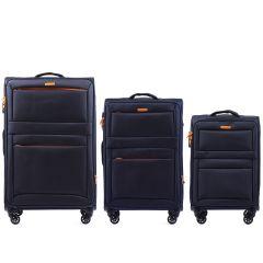 Sada 3 textilních kufrů WINGS 2861 BLUE L/M/S