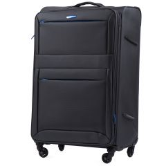 Sada 3 textilních kufrů WINGS 2861 DARK GREY L/M/S E-batoh