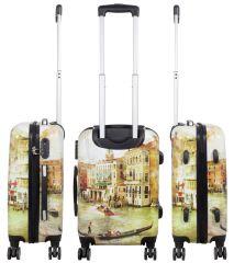 Cestovní polykarbonátový kufr VENICE malý S MONOPOL E-batoh