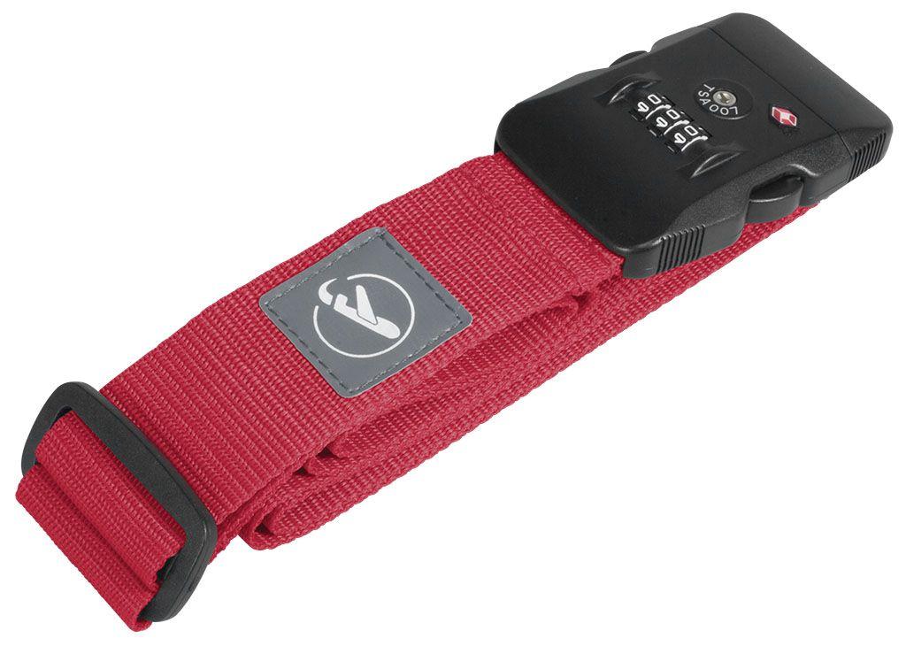 Bezpečnostní popruh na kufr RED s kódovým a TSA zámkem