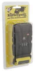 Bezpečnostní popruh na kufr YELLOW s kódovým a TSA zámkem MONOPOL E-batoh