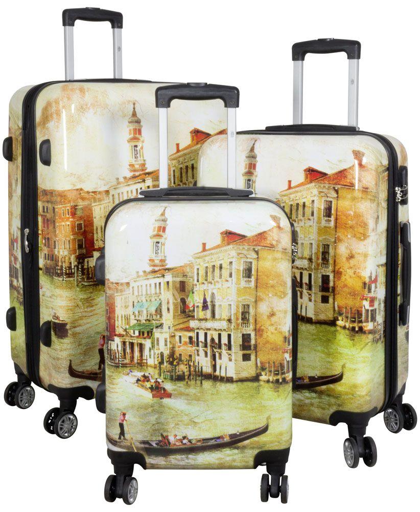 MONOPOL Cestovní polykarbonátové kufry sada VENICE L,M,S