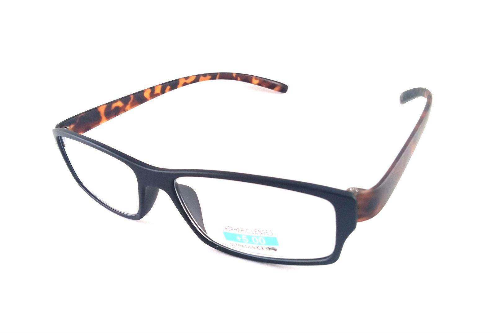 Dioptrické brýle P2.03/ +5,00 hnědá nožička