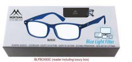 Brýle na počítač BLF BOX 83C BLUE bez dioptrií