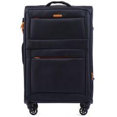 Cestovní látkový kufr WINGS 2861 BLUE střední M