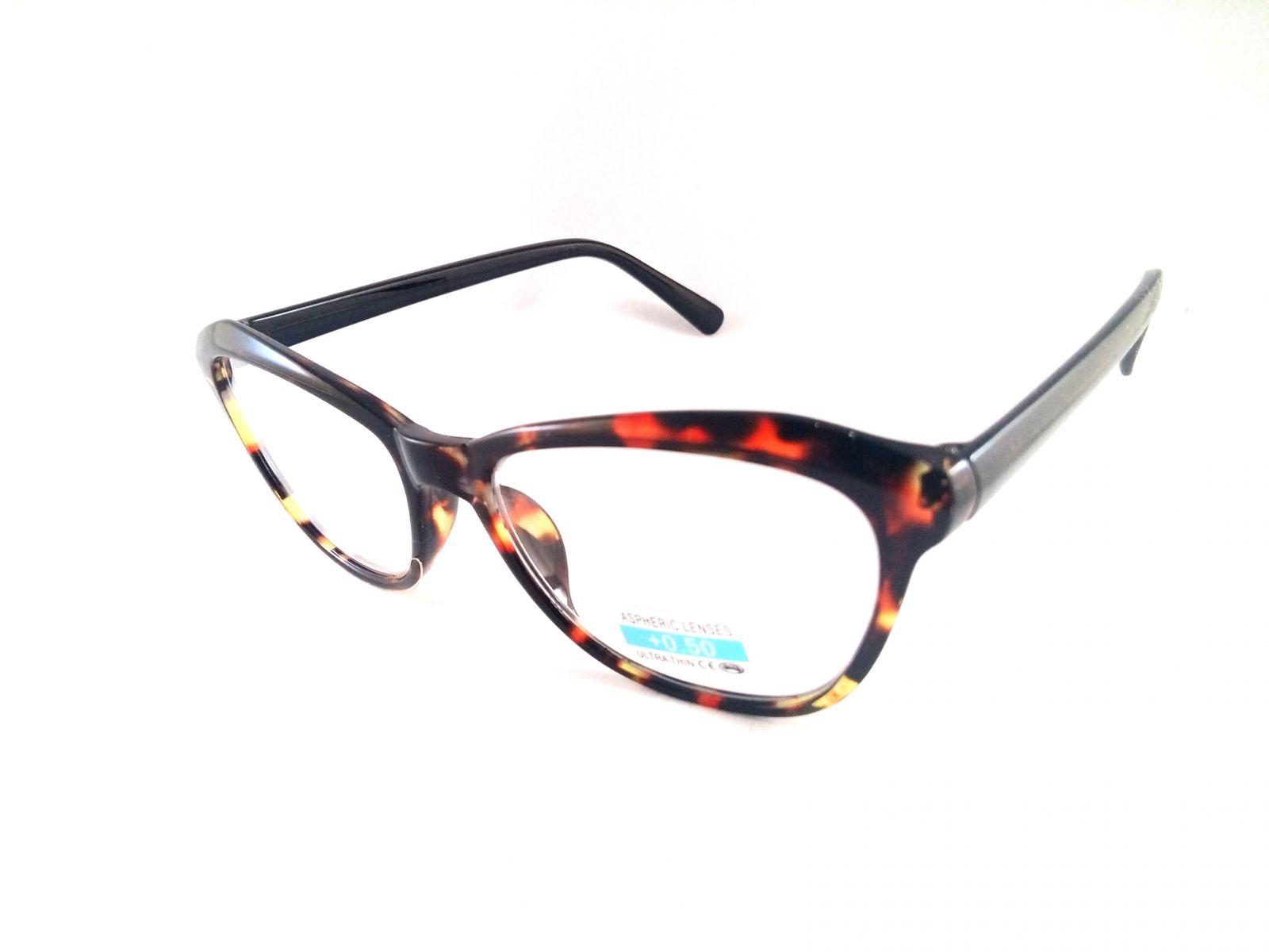 Dioptrické brýle P2.01/ +0,50 hnědý rámeček