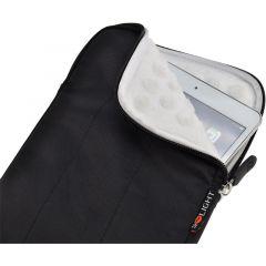 Solight nylonové pouzdro na tablet, e-čtečku do 8'', širokoúhlé, nárazuvzdorné polstrování, černé E-batoh