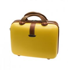 Kosmetický kufr Dielle 255-B-37 žlutá