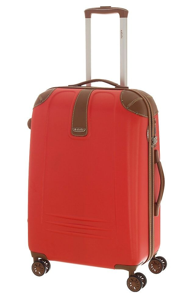 Cestovní kufr Dielle M 155-60-02 červená