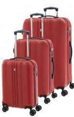 Cestovní kufry set 3ks Dielle S,M,L 05N-02 červená