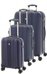 Cestovní kufry set 3ks Dielle S,M,L 05N-05 modrá