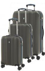 Cestovní kufry set 3ks Dielle S,M,L 05N-23 antracitová