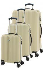 Cestovní kufry set 3ks Dielle S,M,L 05N-24 krémová