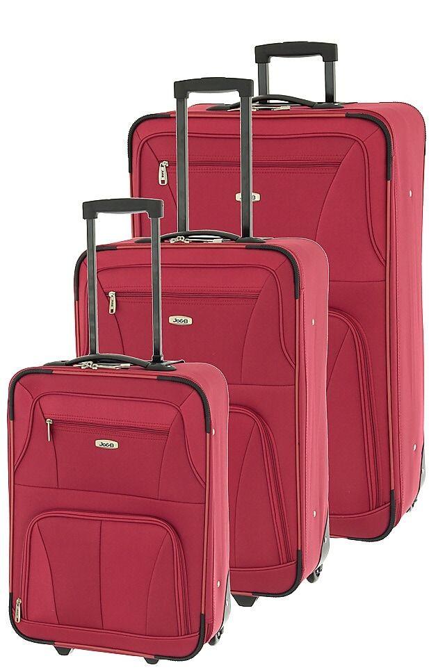 Cestovní kufry set 3ks Dielle S,M,L 748-02 červená