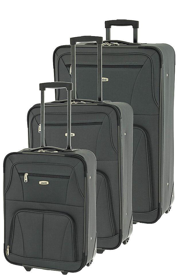 Cestovní kufry set 3ks Dielle S,M,L 748-23 antracitová