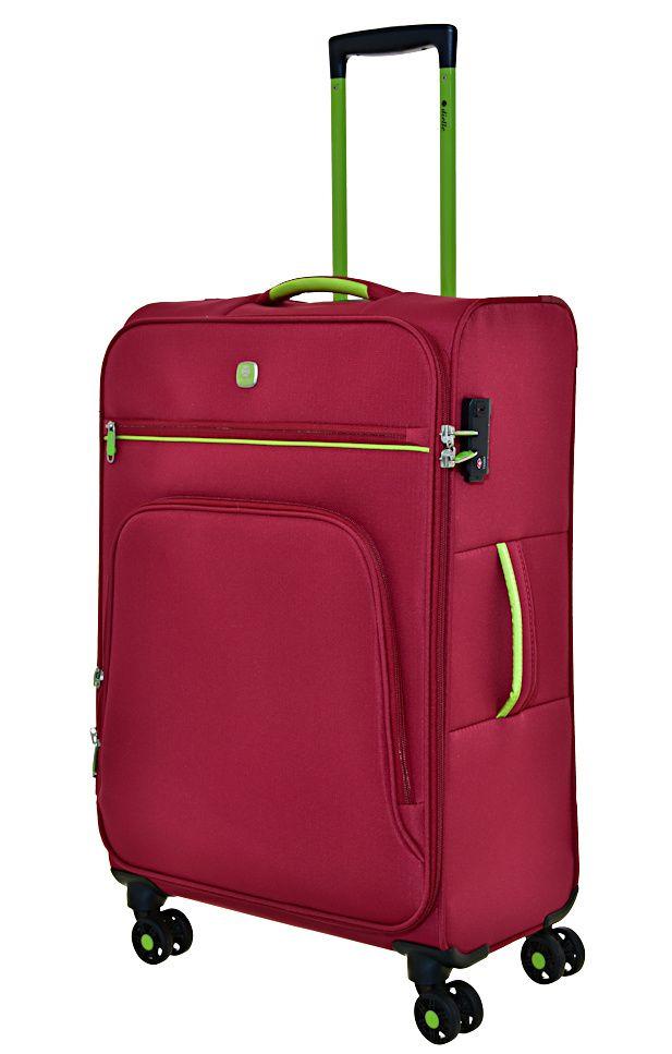 Cestovní kufr Dielle 4W M 10-60-02 červená