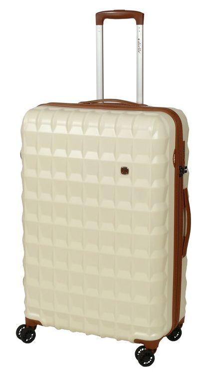 Cestovní kufr Dielle PP L 356-75-24 krémová