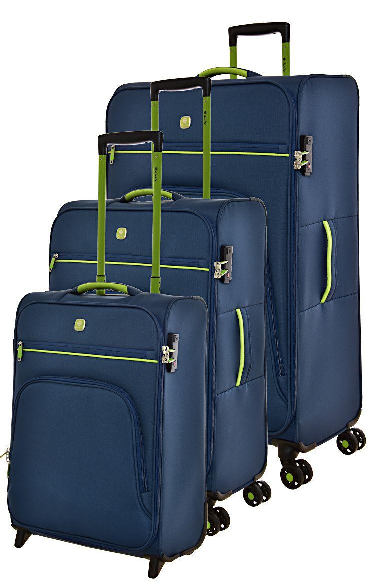 Cestovní kufry set 3ks Dielle S,M,L 10-05 modrá