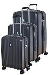 Cestovní kufry set 3ks Dielle S,M,L  120-01 černá