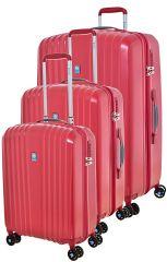 Cestovní kufry set 3ks Dielle S,M,L  120-02 červená